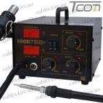 Паяльная станция цифровая с феном HandsKit 852D+ (EXtools 852D+) (паяльник 50W, 200-480°С; фен 370W, 100-240°С)