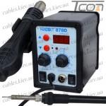 Паяльная станция цифровая с феном HandsKit 878D (EXtools 878D) (паяльник 50W, 100-450°С; фен 400W, 200-480°С)