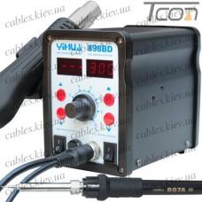 Паяльная станция 2в1 YIHUA 898BD (паяльник + турбинный фен), 2 дисплея