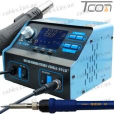 Паяльная станция 2в1 YIHUA 992D+ (паяльник+фен), 1 большой дисплей, 720 Вт, 100-480°C