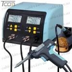 Паяльная станция цифровая с оловоотсосом ZD-8917B, 60W/90W, 160-480°C, Zhongdi