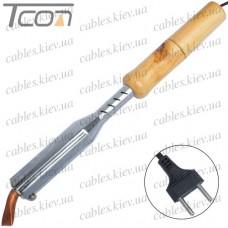 Паяльник с деревянной ручкой, угловое медное жало, 150W, 220V, HandsKit