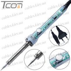 Паяльник HandsKit 905C, c регулятором температуры, 60W, 220V, 200- 450°C, нихромовый нагреватель, HandsKit
