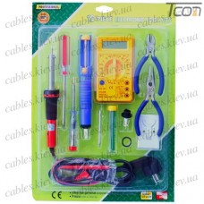 Набор ZD-920D (паяльник, припой, оловоотсос, тестер, кусачки, отвёртки), Zhongdi