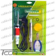 Набор ZD-920C (паяльник, подставка, припой, оловоотсос, кусачки), Zhongdi