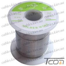 Припой оловянно-свинцовый ПОС-63  диам.-0,6мм, 500гр.катушка, Jufeng