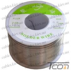 Припой оловянно-свинцовый ПОС-63  диам.-0,8мм, 250гр.катушка, Jufeng