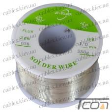 Припой оловянно-свинцовый ПОС-63  диам.-1мм, 250гр. катушка, Jufeng