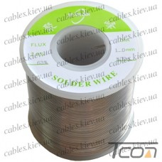 Припой оловянно-свинцовый ПОС-63  диам.-1мм, 500гр.катушка, Jufeng