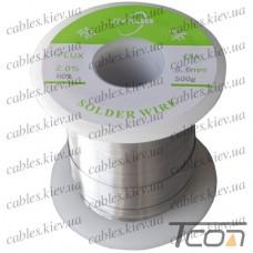 Припой оловянно-свинцовый ПОС-60  диам.-0,6мм, 500гр.катушка, Jufeng