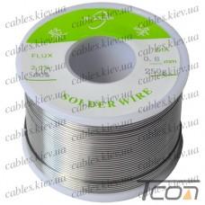 Припой оловянно-свинцовый ПОС-60  диам.-0,8мм, 250гр.катушка, Jufeng