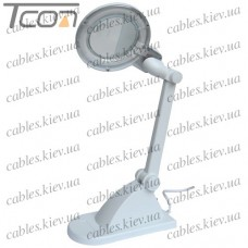 """Лупа-лампа """"Zhongdi"""" настольная, люминисцентная подсветка T4 12W, 3 +12-и кратное увеличение, диам.-90мм"""