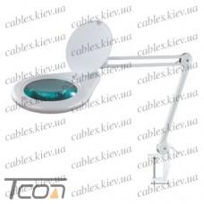 """Лупа-лампа """"Zhongdi"""" на струбцине, люминисцентная подсветка, 3-х кратное увеличение, диам.-180мм"""