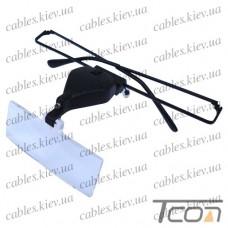 Лупа-очки бинокулярные с подсветкой, 1,5Х2,5Х3,5Х кратное увеличение, Zhongdi