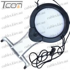 Лупа для вышивания MG11В-1 с подсветкой, 2-х и 6-и кратное увеличение, диам.-107мм + 22мм, Zhongdi
