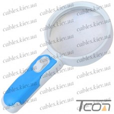 Лупа ручная 77390А круглая с LED подсветкой, 2,5-х кратное увеличение, диам.-90мм, Zhongdi