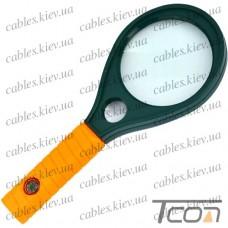 Лупа ручная MG89075 круглая, 3-х + 8-и кратное увеличение, диам.-65мм +16мм, Zhongdi