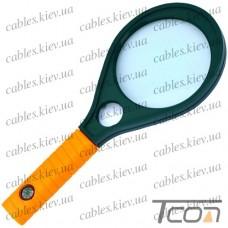 Лупа ручная MG89077 круглая, 3-х + 8-и кратное увеличение, диам.-90мм + 23мм, Zhongdi