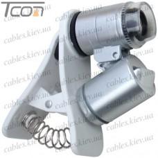 Мини микроскоп MG9882W с прищепкой, для мобильного устройства, 60-и кратное увеличение