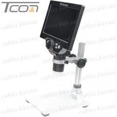 "LCD цифровой микроскоп с 3,5"" TFT-дисплеем и камерой 5 Мпикс, 10-500Х, Tcom"