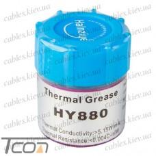 Термопаста nano HY880, серая, 10 грамм, банка, Halnziye