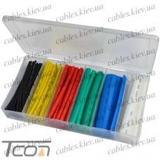 Набор цветных термоусадок 102шт. (1,5; 2,5; 4,0; 6,0; 10; 13мм), Tcom
