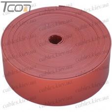 Термоусаживаемая лента 25х0,8мм, катушка 5м, красная, WOER