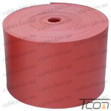 Термоусаживаемая лента 50х0,8мм, катушка 5м, красная, WOER
