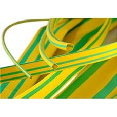 Трубка термоусадочная 6,0/2,0мм, жёлто-зелёная, 1м (3:1), Tcom