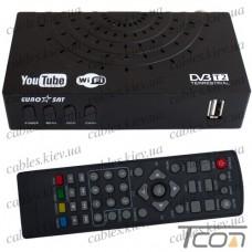 Цифровой ТВ-ресивер DVB-T2, пластиковый корпус, EuroSat