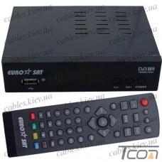 Цифровой ТВ-ресивер DVB-T2 (чипсет MSTAR 7T01), металлический корпус, EuroSat