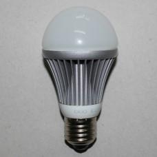 Лампочка светодиодная 220В, 7Вт, Е27, 3000K, тёплый свет, диам.-60мм, LED Star