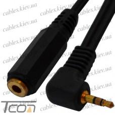 """Переходник """"Tcom"""", штекер 2,5 стерео - гнездо 3,5 стерео, с кабелем 0,2м"""