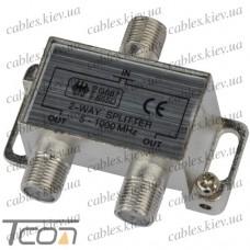 Сплиттер (Splitter) ТВ 2-way 5-1000MHZ, корпус_металл, Tcom
