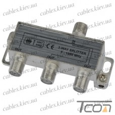 Сплиттер (Splitter) ТВ 3-way 5-1000MHZ, корпус_металл, Tcom