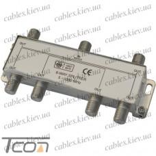 Сплиттер (Splitter) ТВ 6-way 5-1000MHZ, корпус металл, Tcom