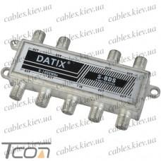 Сплиттер (Splitter) ТВ 8-way 5-1000MHZ, корпус металл, Tcom