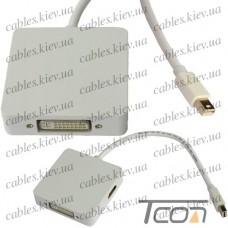 Переходник штекер mini Display Por t- Digi-Port (HDMI, DVI, Display Port), Tcom