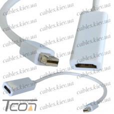 Переходник штекер mini Display Port - гнездо HDMI, Tcom