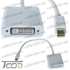 Переходник штекер mini Display Port - гнездо DVI, Tcom