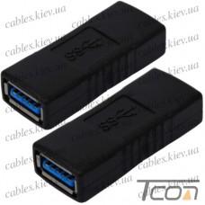 """Переходник """"Tcom"""", гнездо USB A - гнездо USB A, Vers.3.0"""