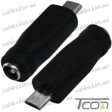 """Переходник """"Tcom"""", штекер micro USB - гнездо питания 2,1/5,5мм"""