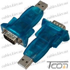 Переходник CBR USB - RS232 (штекер USB - штекер RS232), Tcom