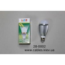 Лампочка светодиодная 220В, 7Вт, алюминиевый корпус, натуральный свет, LED Star