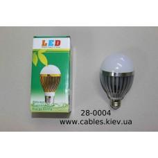 Лампочка светодиодная, 220V, 12Вт, Е27, алюминиевый корпус, натуральный белый