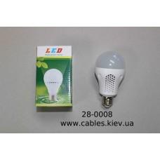 Лампочка светодиодная, 220V, 7Вт, Е27, алюминиевый охладитель, натуральный белый