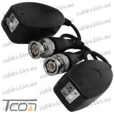 Одноканальный пассивный видео трансивер для CCTV камер видеонаблюдения (комплект 2шт) (Тип 2), Tcom