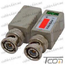 Одноканальный пассивный видео трансивер для CCTV камер видеонаблюдения (комплект 2шт) (Тип 3), Tcom