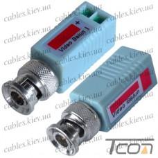 Видео балун для CCTV камер видеонаблюдения, 400-600м, комплект-2шт., Tcom