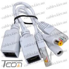 Комплект для передачи питания для IP-камер без PoE по витой паре, Tcom